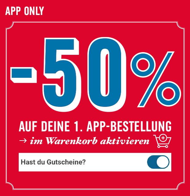 50% auf die 1. App-Bestellung bei Domino's Pizza Austria