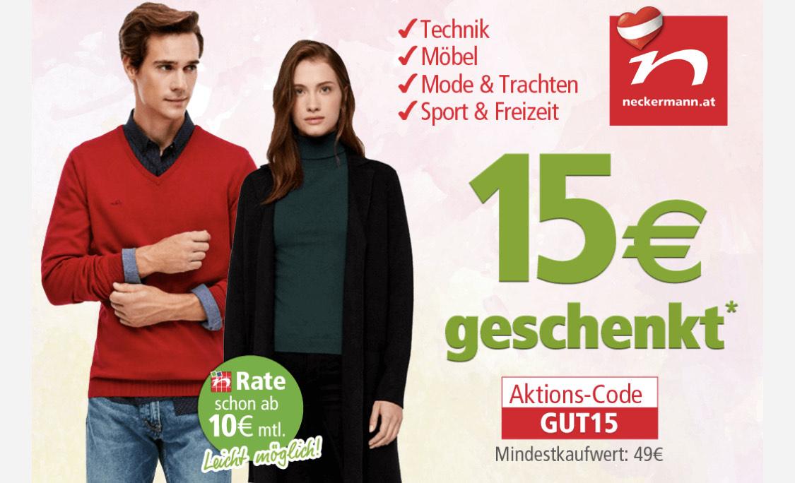 15€ Rabatt ab 49€ bei Neckermann