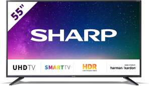 "[Hofer] 55"" Sharp BJ2E 4K UHD TV mit Harman Kardon Soundsystem um 399€"