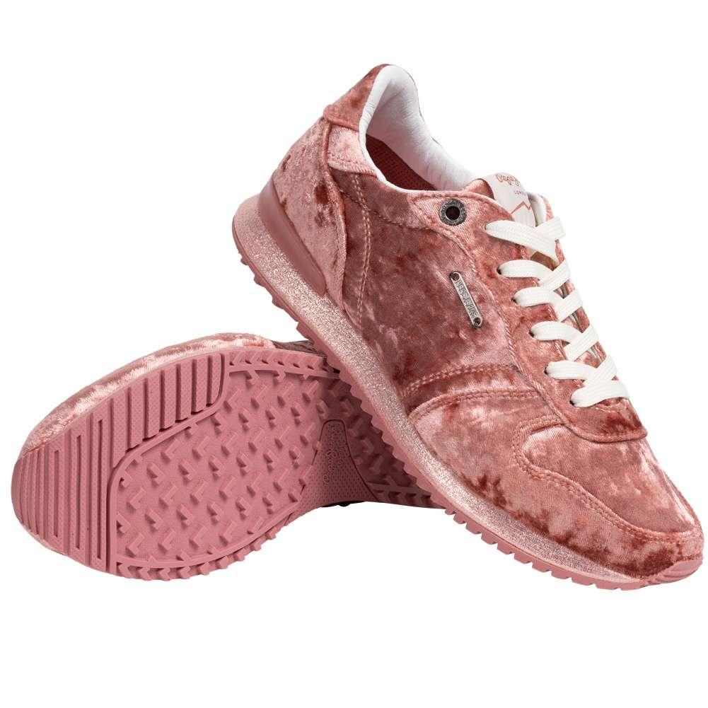 Pepe Jeans Gable Velvet Low Top Damen Sneaker in drei verschiedenen Farben
