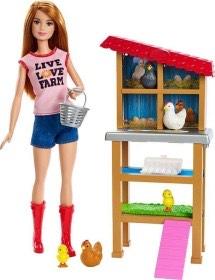 Barbie FXP15 - Berufe Bäuerin Puppespielset
