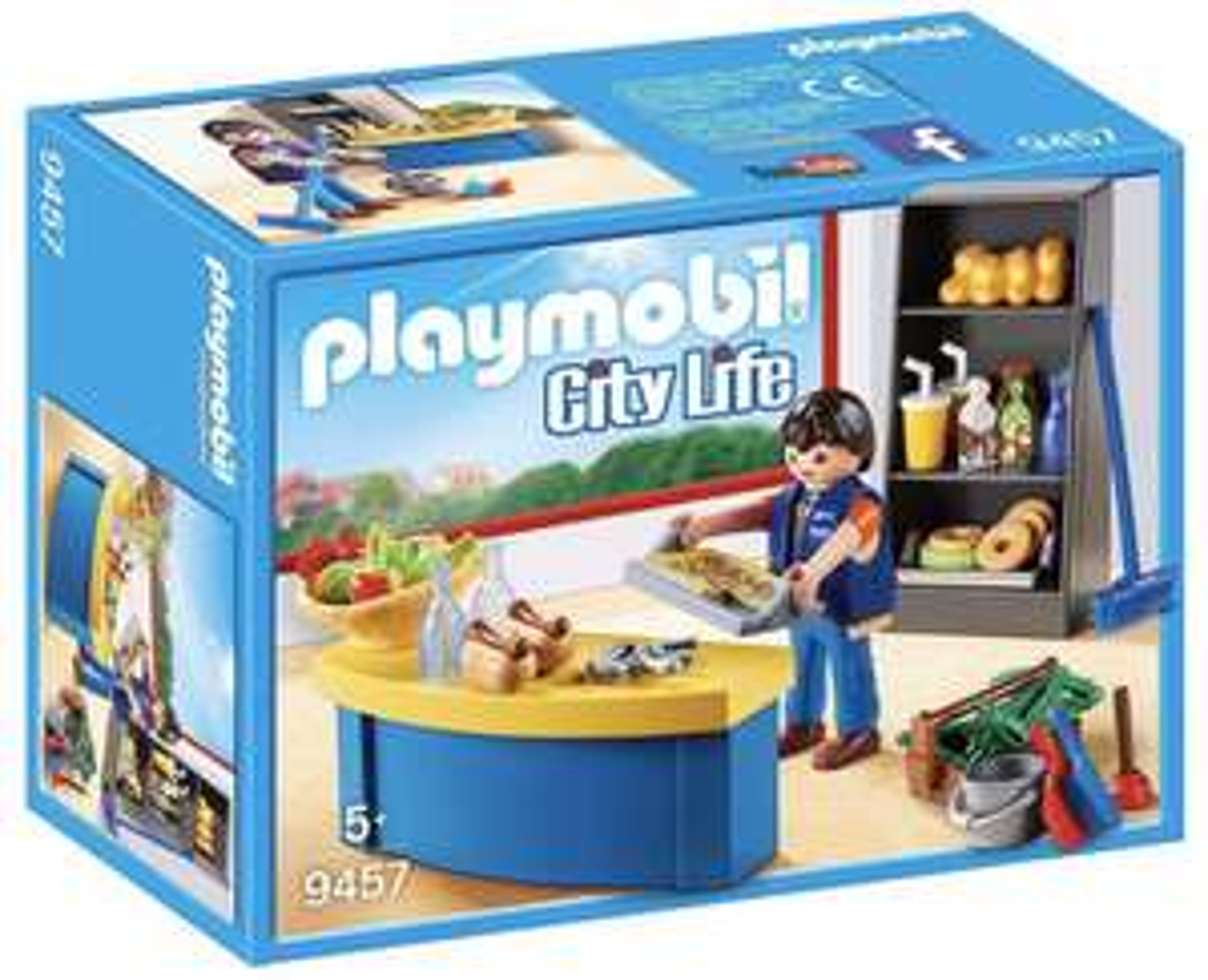 PLAYMOBIL City Life 9457 Hausmeister mit Kiosk