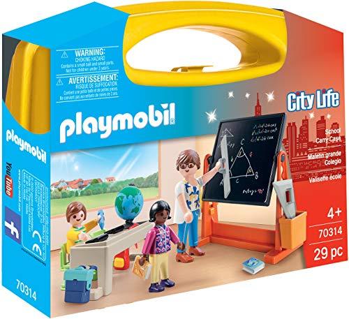 Playmobil 70314 Schulklasse mit abwischbarer Tafel und anderem Schulbedarf