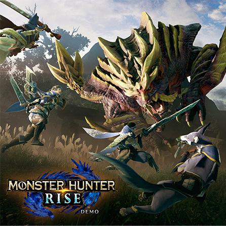 """""""Monster Hunter Rise"""" (Nintendo Switch) die Demo spielen und gratis Objektpaket erhalten."""