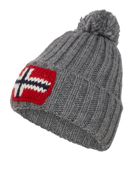 Napapijri 'Semiury' Pudelmütze mit Logo - alle Farben - Bestpreis