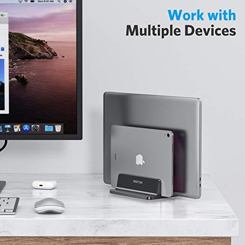 OMOTON platzsparend Laptopständer aus Aluminium in schwarz