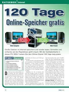 Rapidshare für 4 Monate mit je 30GB Traffic (400 Rapids) für 1,50€ in der PC Welt