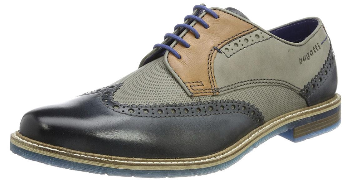 Bugatti mens lace up shoes blau (40-46)