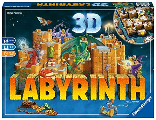 (AMAZON)Ravensburger 3D Labyrinth - Familienklassiker, Spiel für Erwachsene und Kinder. Gesellschaftspiel geeignet für 2-4 Spieler