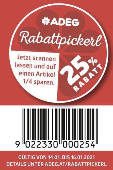 """ADEG: 25% Sticker ab 14.01.- 16.01. auch als """"Online-Version"""""""
