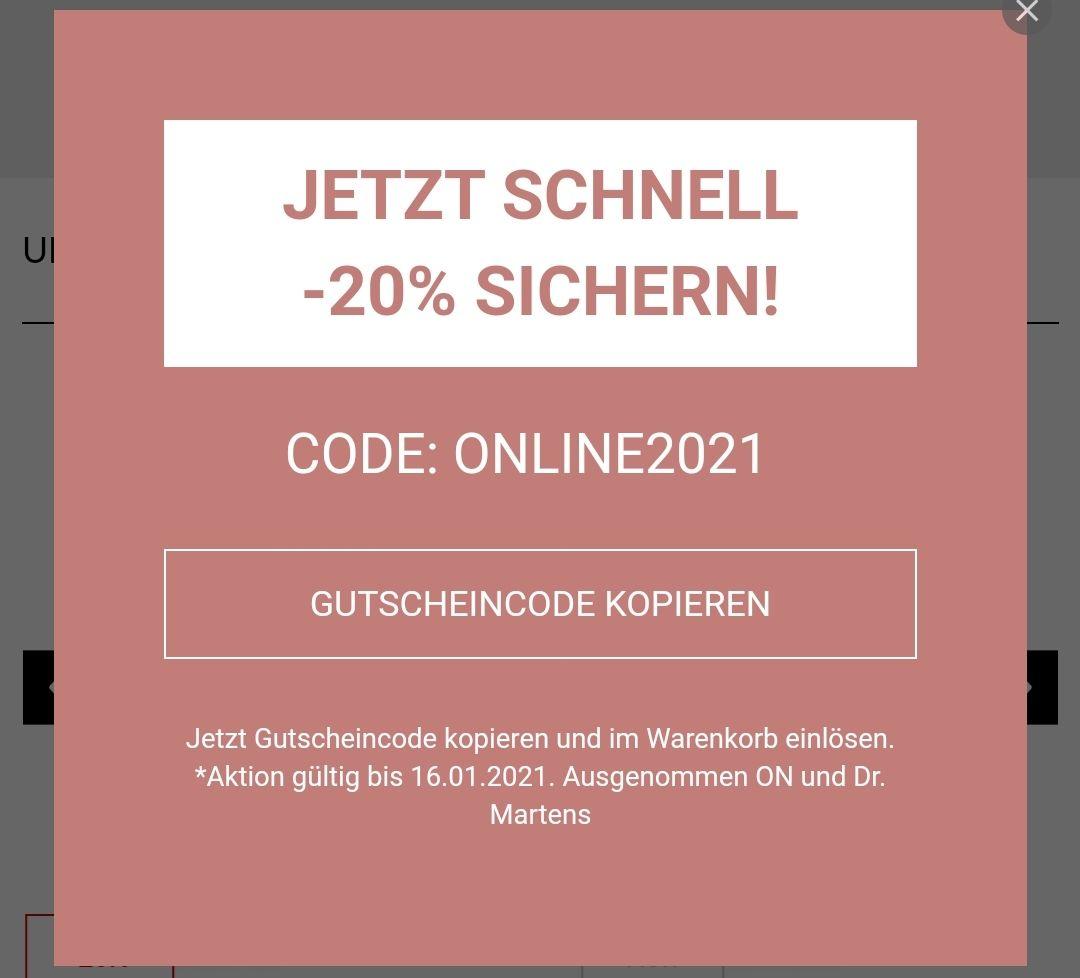 Humanic online -20% auf die Bestellung (ausgenommen ON und Dr Martens)