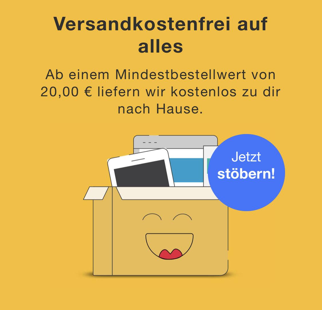 VSK frei ab 20€ bei reBuy