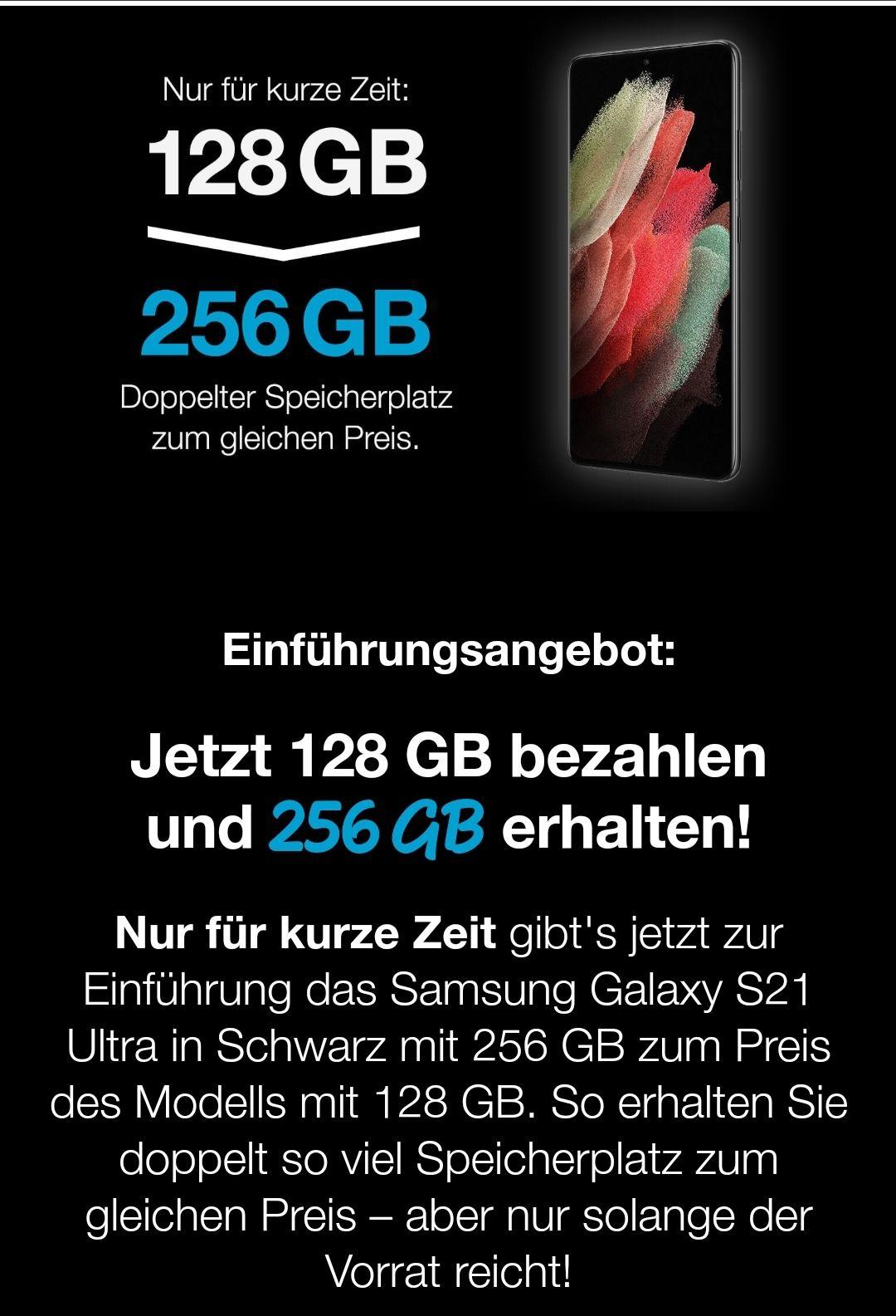 Samsung Galaxy S21+ 256GB zum Preis vom 128GB