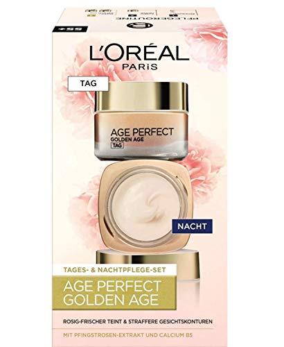 L'Oréal Paris Tages & Nacht Gesichtspflege Set, Age Perfect Golden Age im Spar-Abo