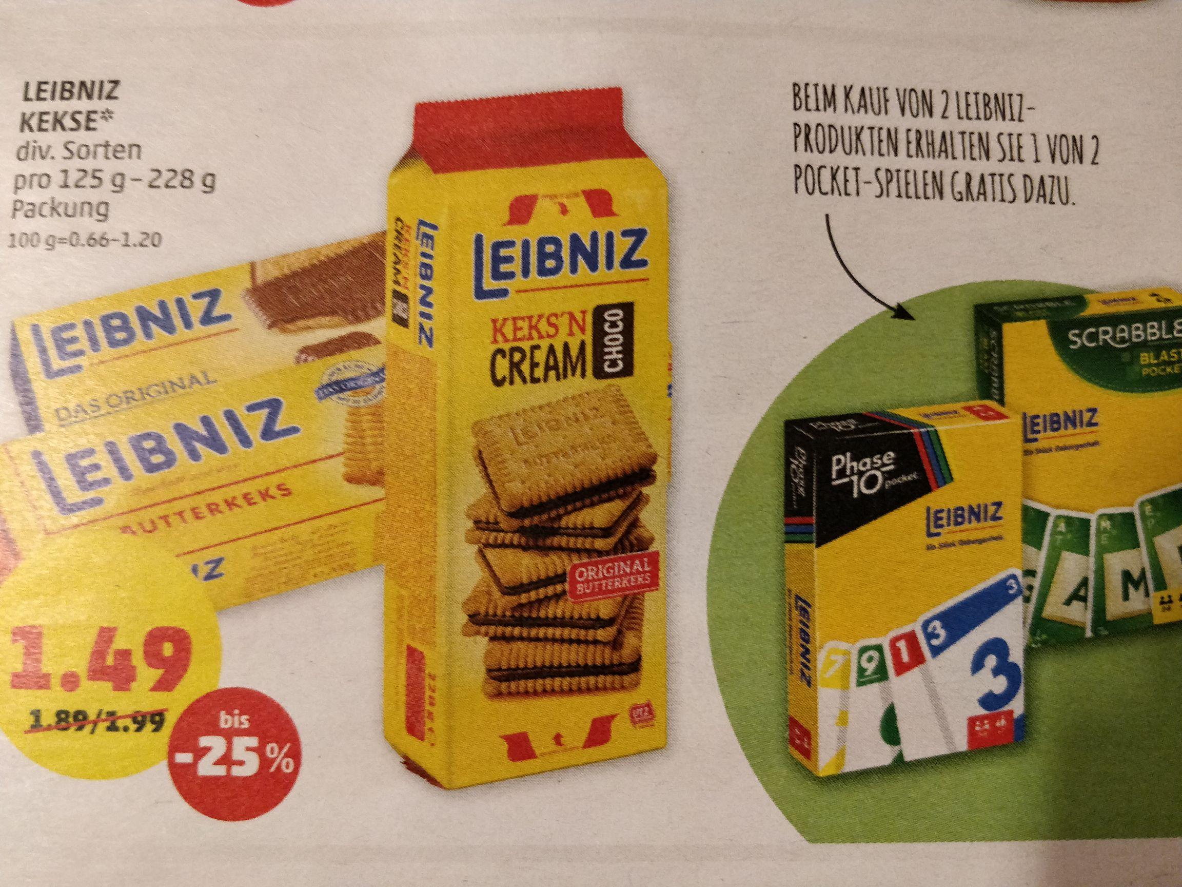 (Penny) 2 Packungen Leibniz Kekse kaufen und 1 gratis Pocket Spiel erhalten
