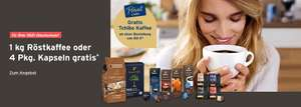 Tchibo/Eduscho 1kg Kaffee gratis ab 80€