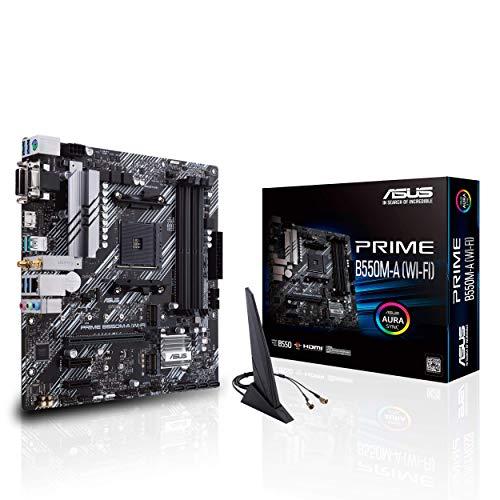 ASUS Prime B550M-A (Wi-Fi) Gaming Mainboard Sockel AM4 mit WLAN