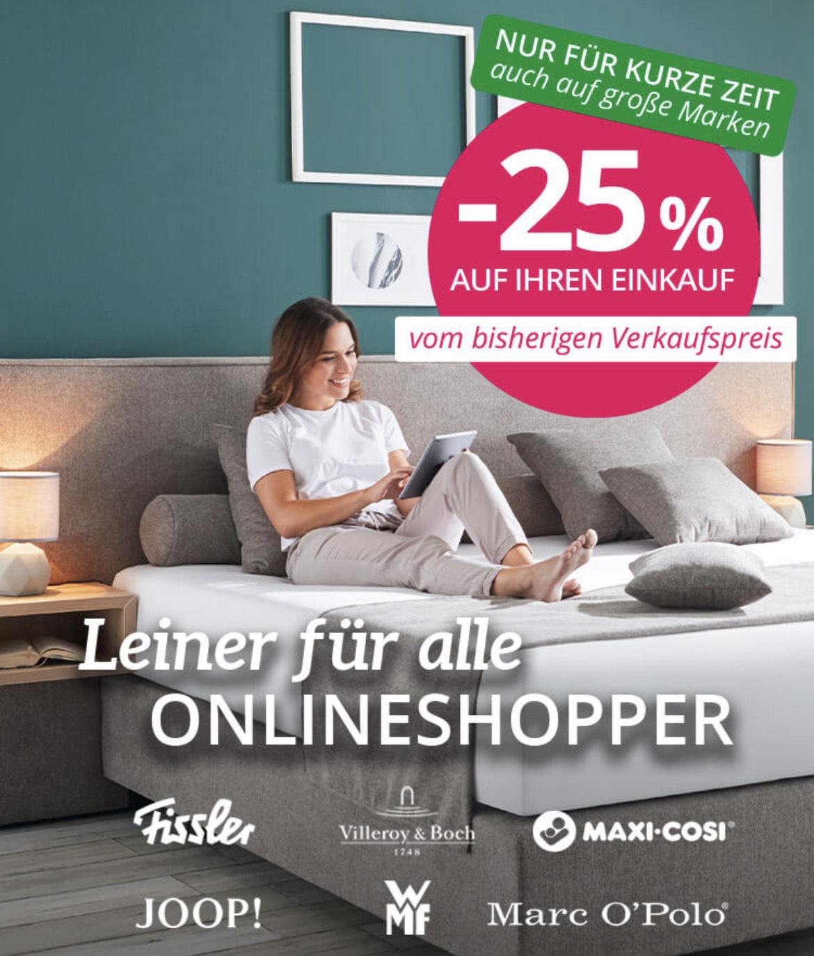 -25% bei Leiner & kika auch auf Marken