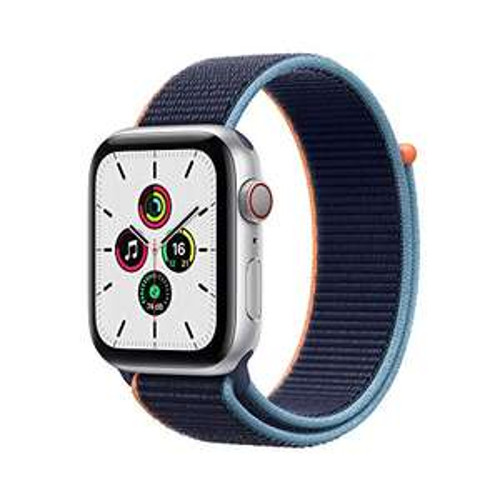 Apple Watch SE (LTE, 44 mm, Alu, Sportarmband, blau)