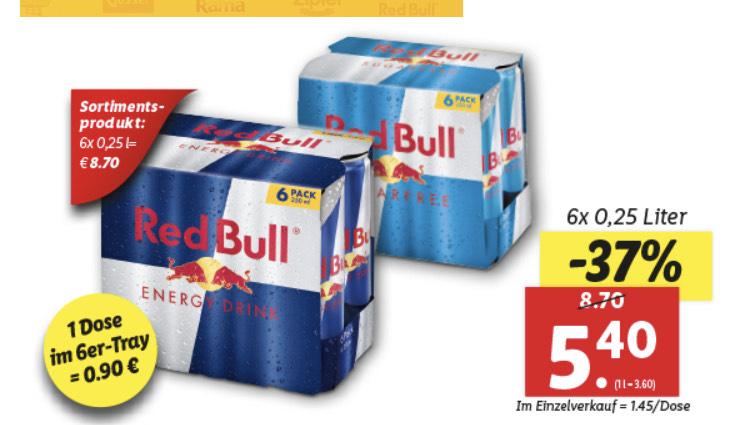 Red Bull 6'er Tray # Lidl #