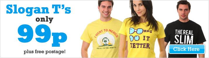 Verschiedene T-Shirts von TheHut für 3€ inkl. Versand @Ebay UK