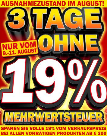 Neue Media Markt Aktion - 19% MWST Rabatt auf alle Artikel über 300€