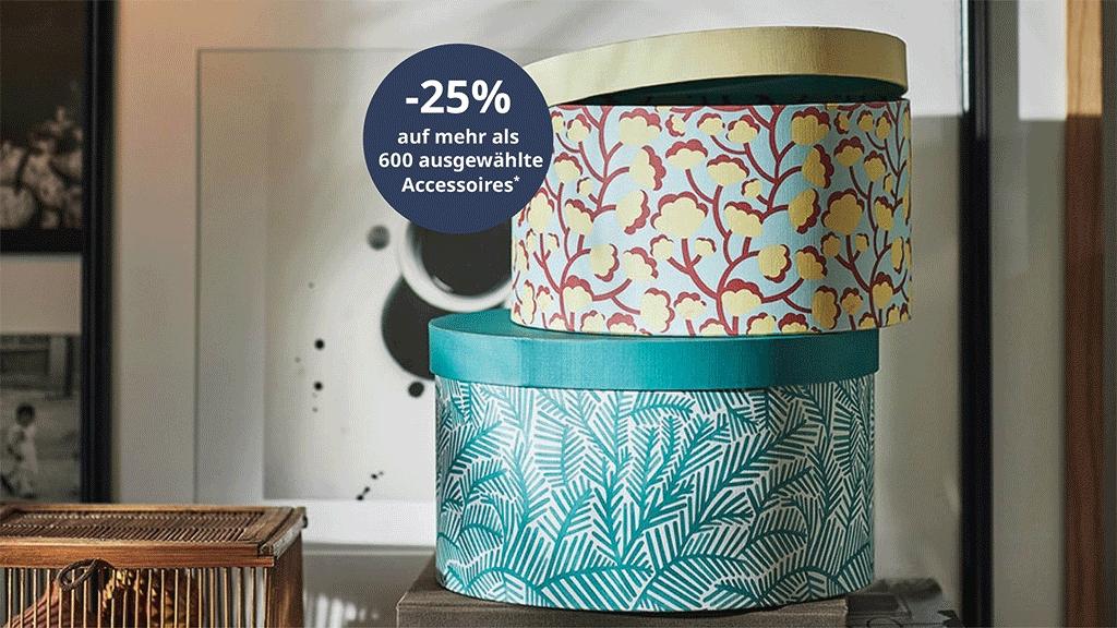 Ikea: -25% auf ausgewählte Accessoires