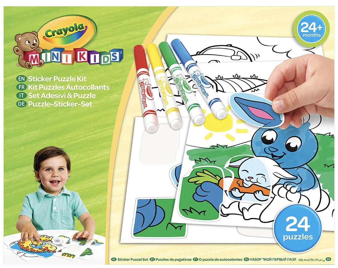 Crayola – Mein 1. Puzzle selbstklebend – Kreativset – Mini Kids – ab 2 Jahren – Kreativspiel – Ausmalen und Zeichnen