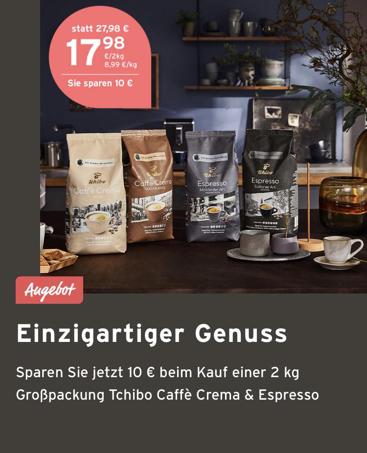 EDUSCHO - Kaffee für Vollautomaten € 10 Ersparnis bei Kauf von 2 Grosspackungen (je 1 kg)