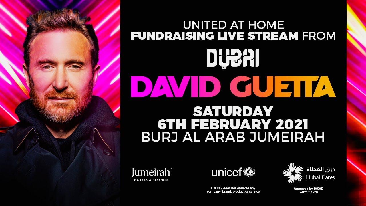"""""""United at Home - David Guetta"""" spielt ein gratis zu streamendes, einzigartiges Online DJ Set aus Dubai am 6. Februar 2021"""