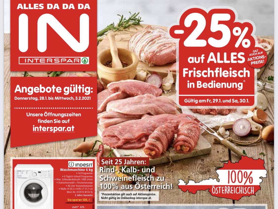 [ Interspar ] -25% auf Frischfleisch in Bedienung