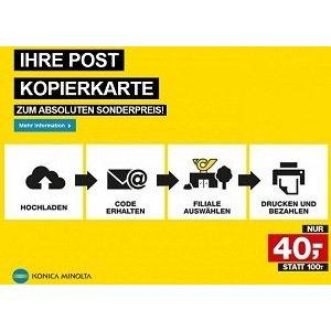 Post Kopierkarte derzeit 120 Euro Guthaben um nur 40 Euro kaufen