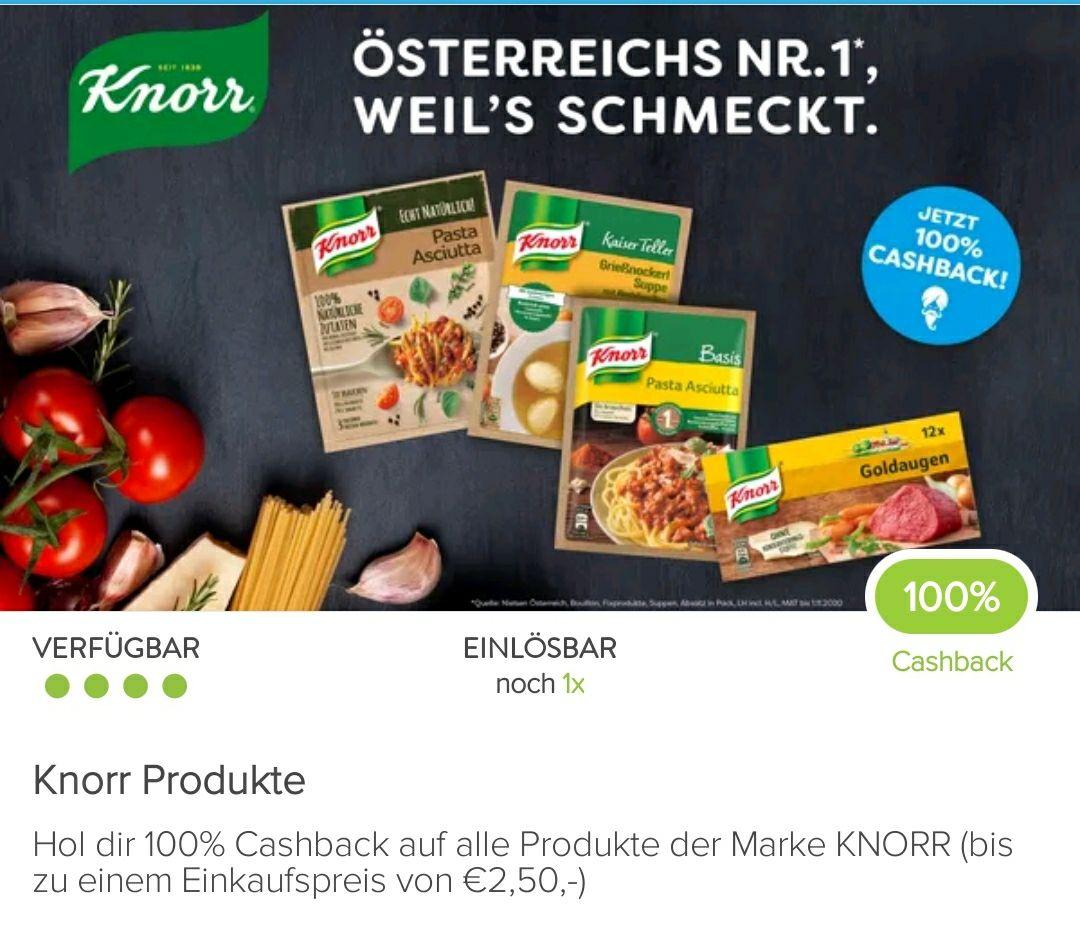 100% Cashback auf ein Knorr-Produkt bis 2,5€ mit Marktguru