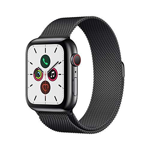 (Amazon.co.uk) Apple Watch Series 5 LTE (Cellular) 44mm Edelstahl Space Black mit Milanese Loop