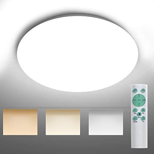 Novostella 24W LED Deckenleuchte, 2650LM, Warm-Kaltweiß + Fernbedienung
