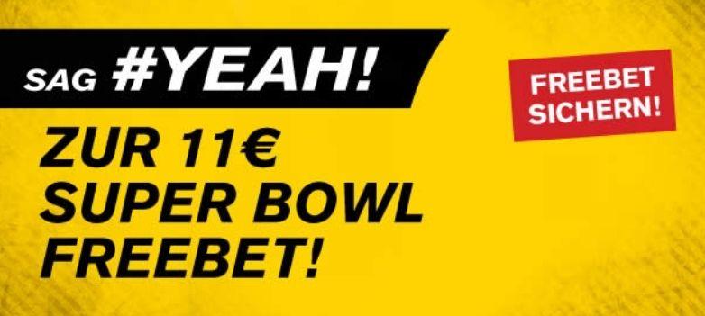 Interwetten: 11€ Freebet zum Superbowl