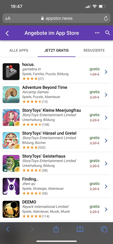 Angebote im App Store