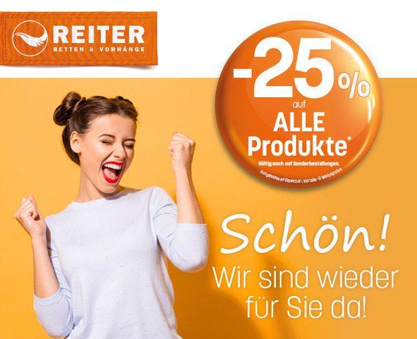 Betten Reiter - 25% Rabatt auf fast Alles
