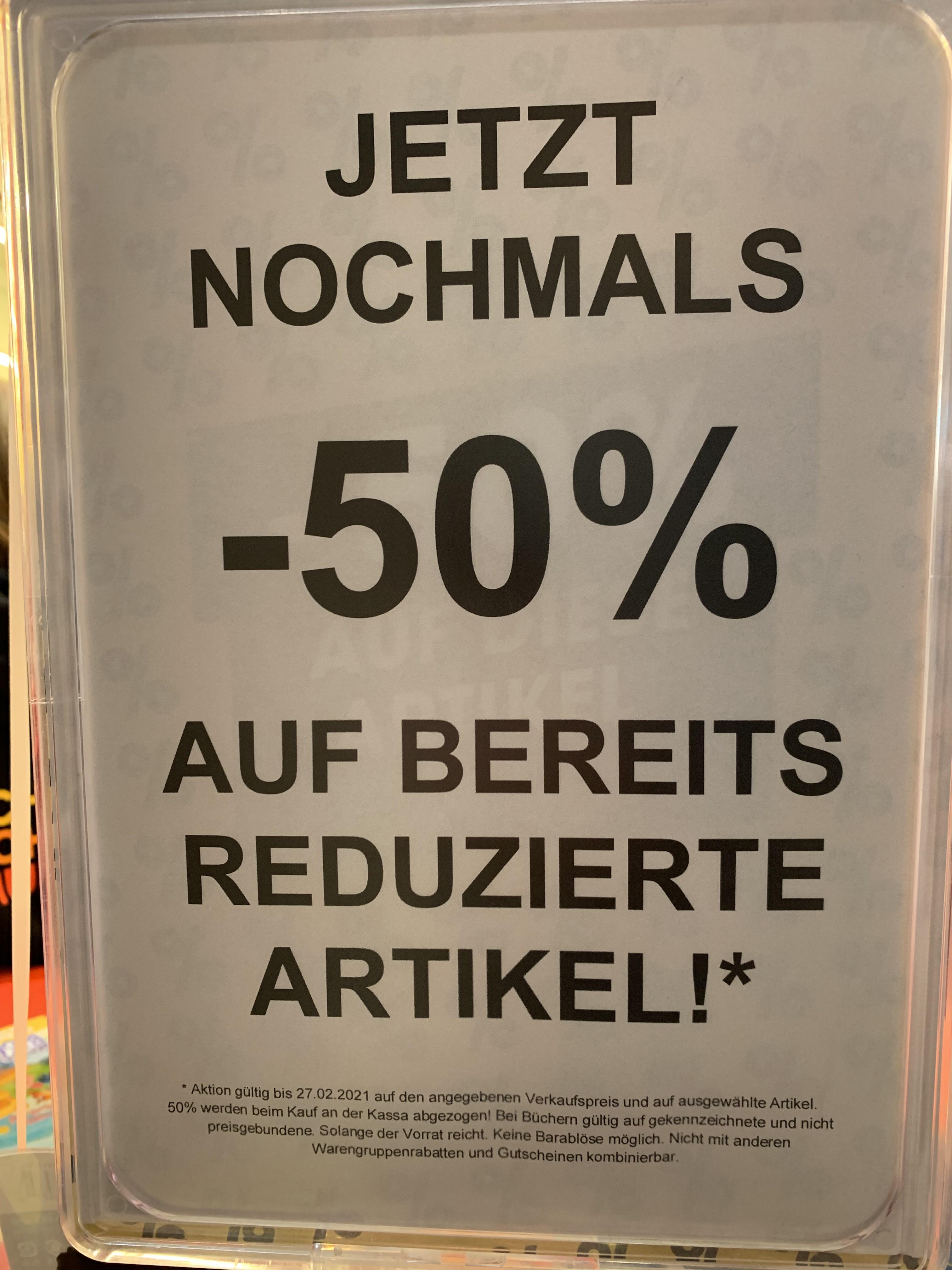 50% auf Sale in Libro Geschäften
