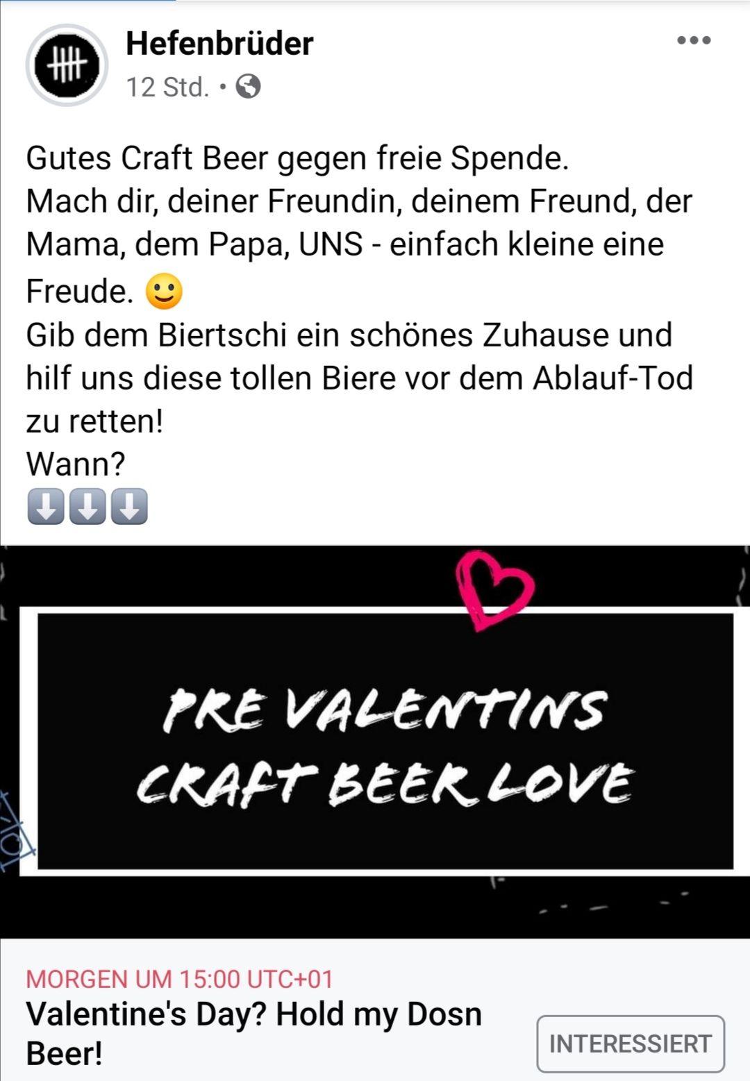 Bier to go von den Hefenbrüdern gegen freie Spende