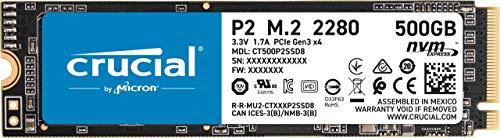 Crucial P2 SSD 500GB, M.2