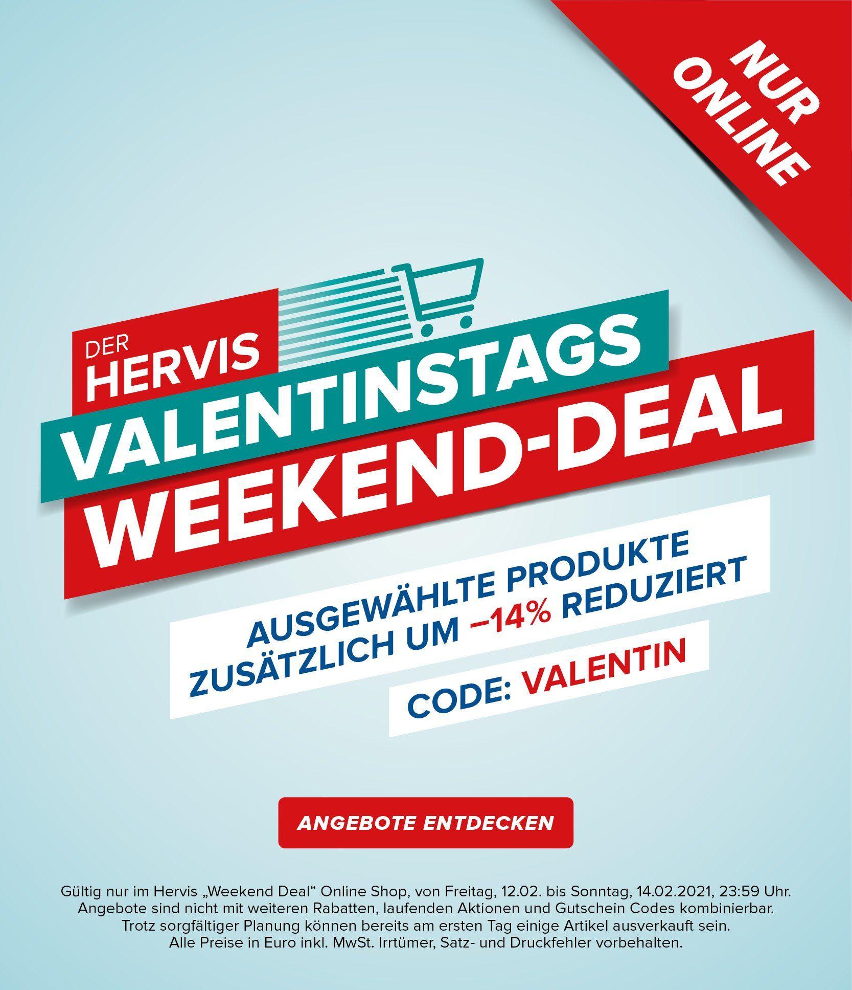 Hervis: 14% Extra-Rabatt auf alle Weekend-Deals