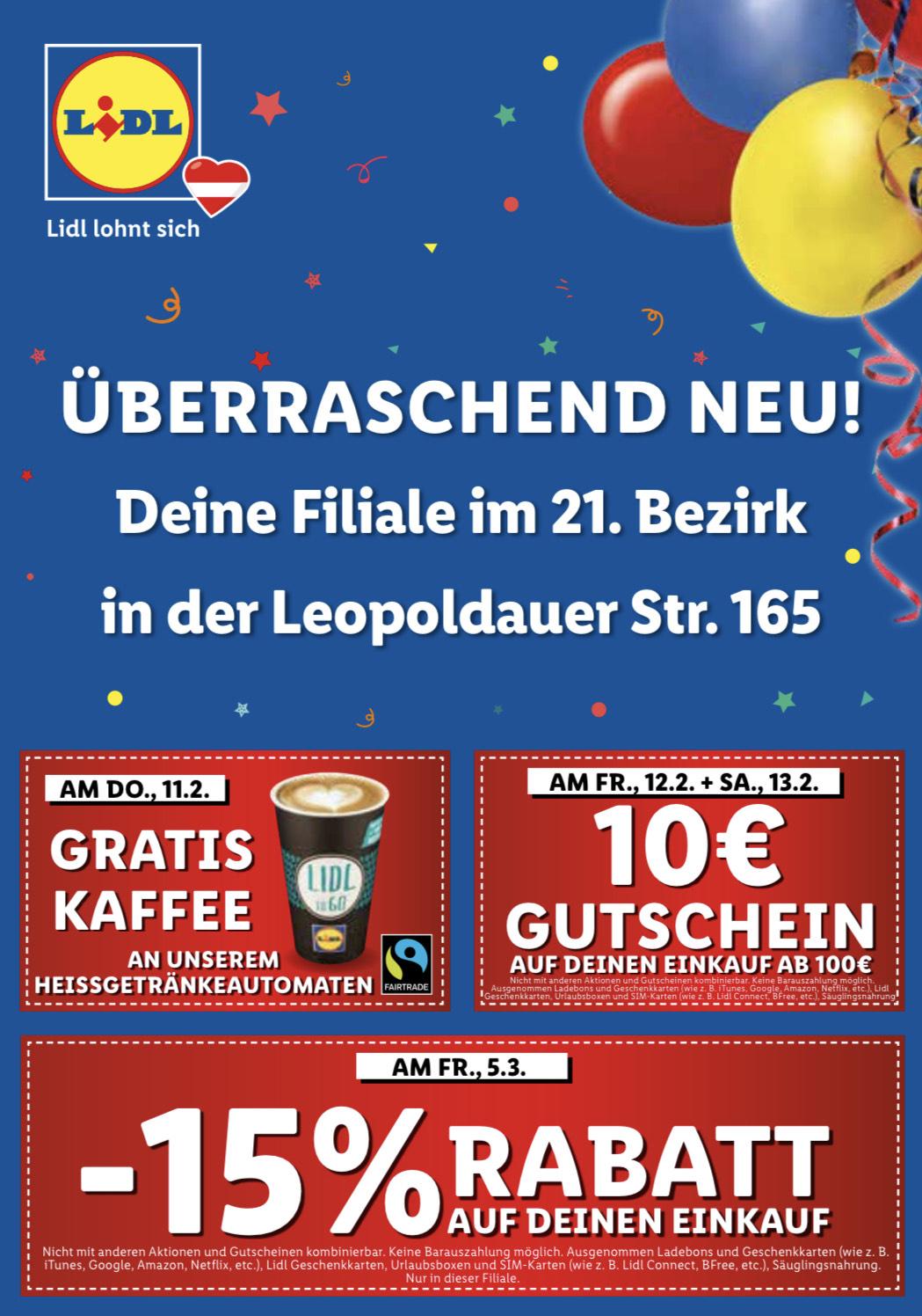 Wiedereröffnung Lidl Leopoldauer Str. 165
