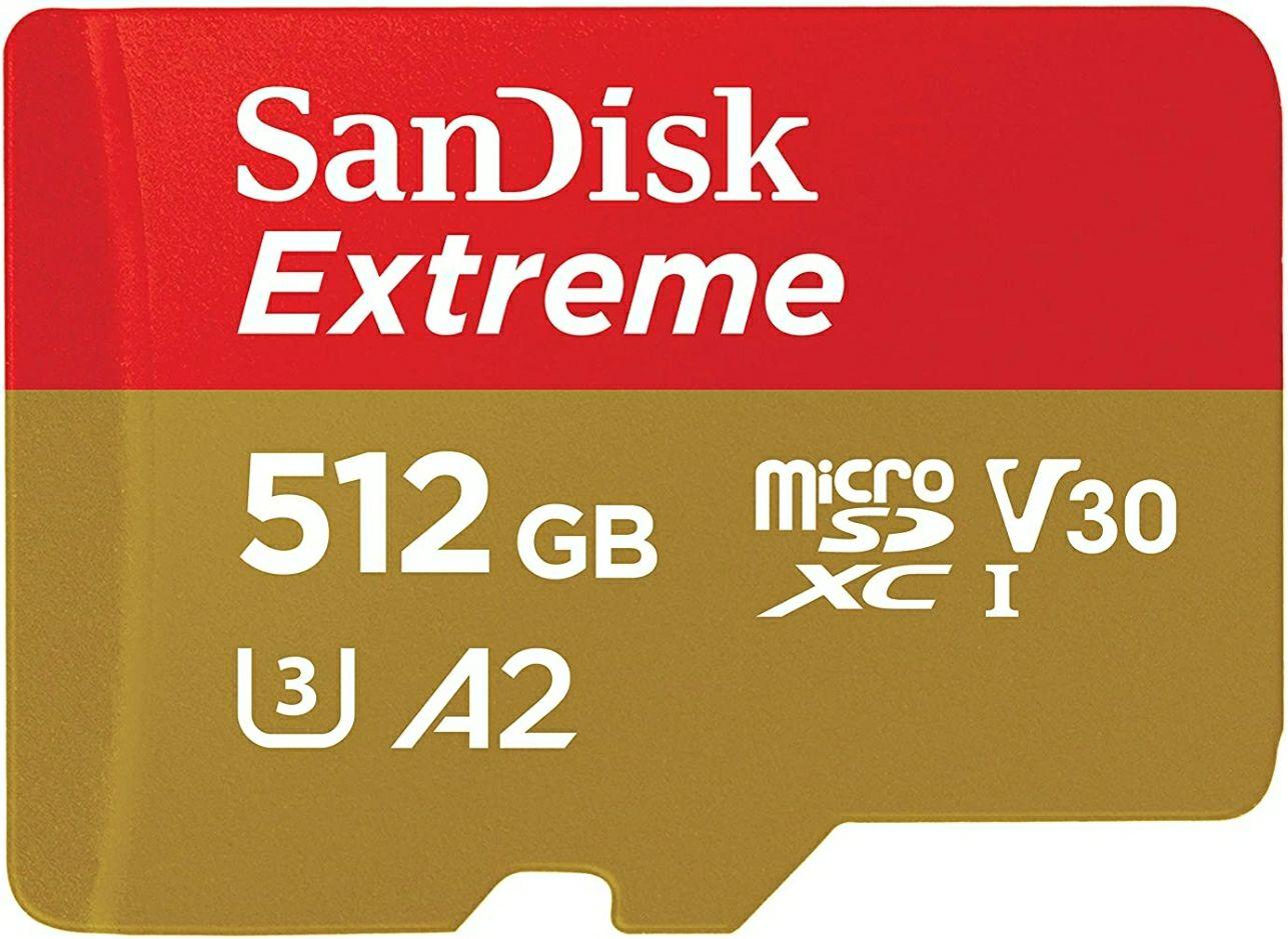 512gb SanDisk Extreme microSD bis zu 160 MB/s*