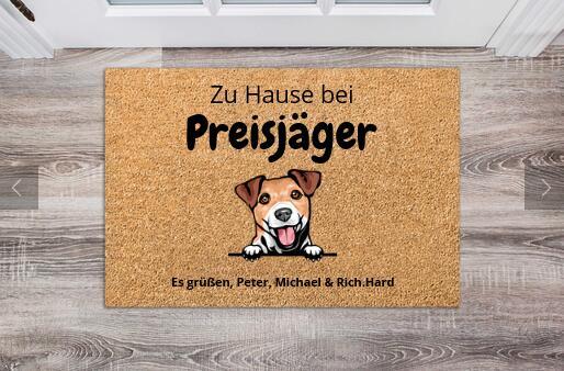 Personalisierte Fußmatte - Hunde Edition