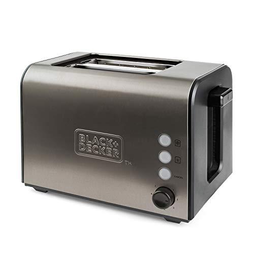 Black+Decker BXTO900E Toaster, 900W, 7 Bräunungsstufen, Krümelschublade, Auftauen