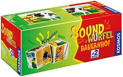 KOSMOS 697365 - Soundwürfel Bauernhof, Lernspielzeug mit Geräuschen