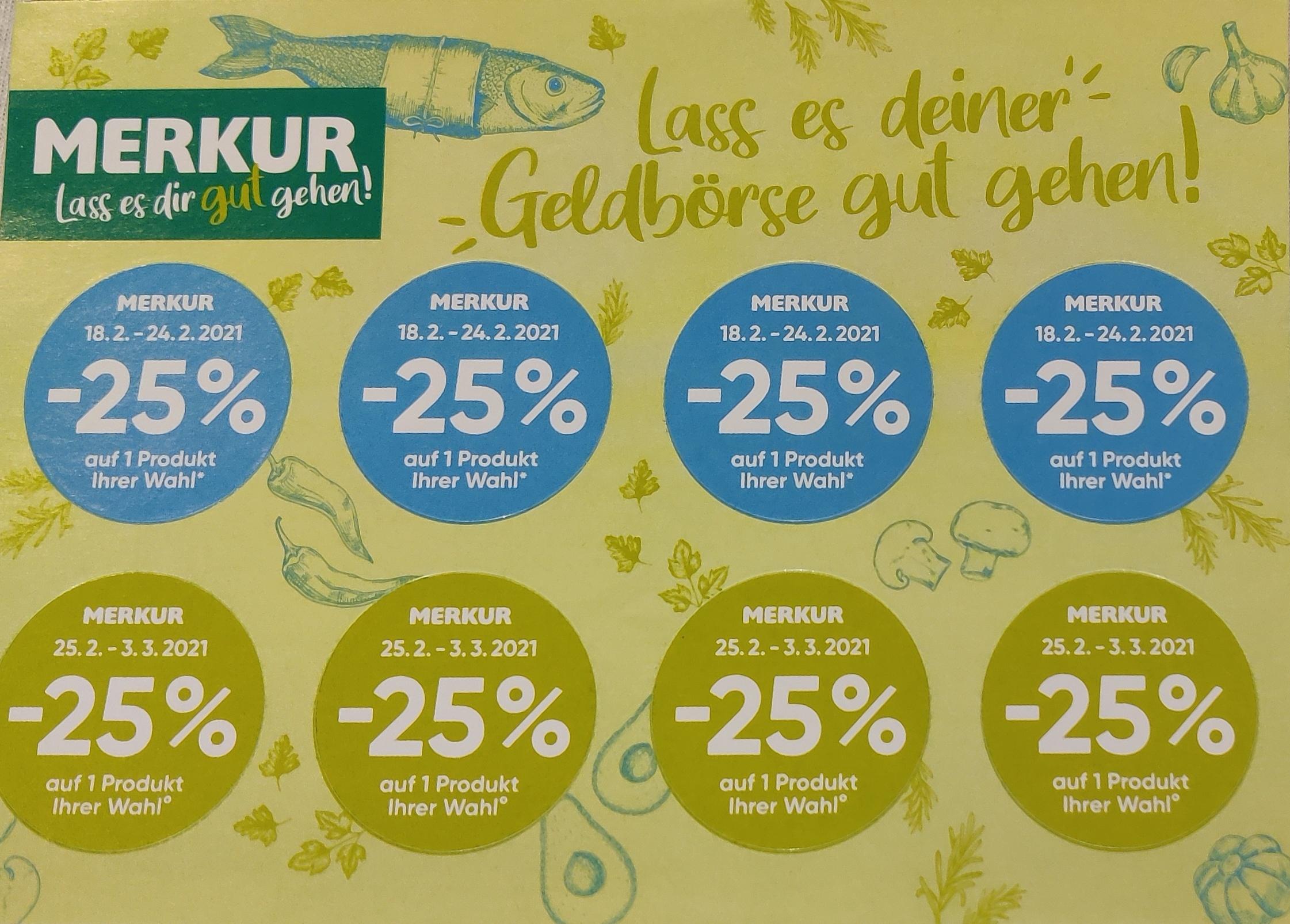Merkur -25% Pickerl
