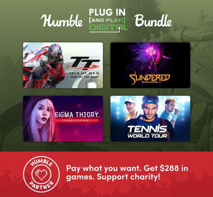 "Humble ""Plug In (And Play!) Digital Bundle"" 12 Steamspiele zum Spitzenpreis: WRC 8, Hover, Neuro Voider, Tennis World Tour, Anarcute, ...."