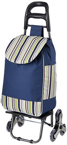 Chicreat Einkaufstrolley, 3 + 3 Edelstahlräder, faltbar, Blau